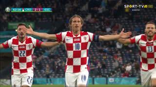 GOLO! Croácia, L. Modrić aos 62', Croácia 2-1 Escócia