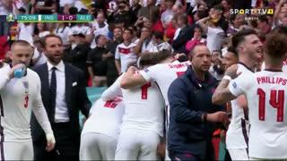 GOLO! Inglaterra, R. Sterling aos 75', Inglaterra 1-0 Alemanha
