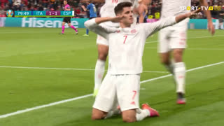 GOLO! Espanha, Álvaro Morata aos 80', Itália 1-1 Espanha