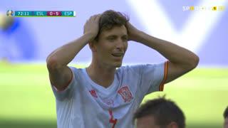GOLO! Espanha, J. Kucka (p.b.) aos 71', Eslováquia 0-5 Espanha