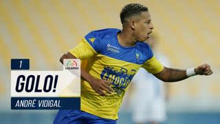 GOLO! Estoril Praia, André Vidigal aos 1', Estoril Praia 1-0 FC Arouca