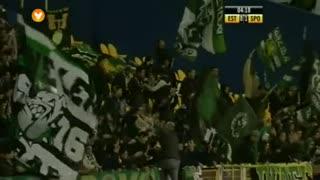 GOLO! Sporting CP, Wolfswinkel aos 5', Estoril Praia 0-1 Sporting CP