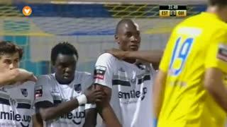 GOLO! Estoril Praia, Luís Leal aos 33', Estoril Praia 1-0 Vitória SC