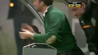 GOLO! Sporting CP, Wolfswinkel aos 8', SC Braga 0-1 Sporting CP