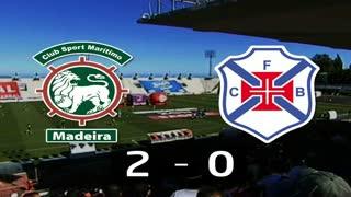 I Liga (20ªJ): Resumo Marítimo M. 2-0 Belenenses