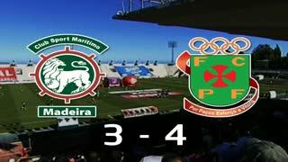 I Liga (6ªJ): Resumo Marítimo M. 3-4 FC P.Ferreira