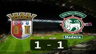 I Liga (29ªJ): Resumo SC Braga 1-1 Marítimo M.