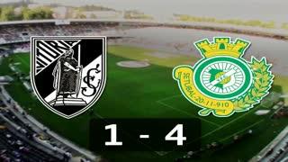 Liga (3ª J): Resumo V. Guimarães 1-4 V. Setúbal