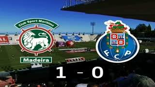 Liga (17.ª J): Resumo Marítimo 1-0 FC Porto