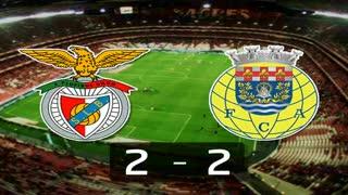 Liga (12ª J): Resumo Benfica 2-2 Arouca