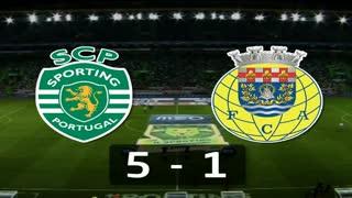 I Liga (1ªJ): Resumo Sporting CP 5-1 FC Arouca
