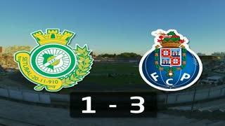 Liga (1ª J): Resumo V. Setubal 1-3 FC Porto