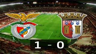 Liga (10ª J): Resumo Benfica 1-0 Sp. Braga