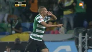 GOLO! Sporting CP, I. Slimani aos 67', Sporting CP 2-2 Marítimo M.