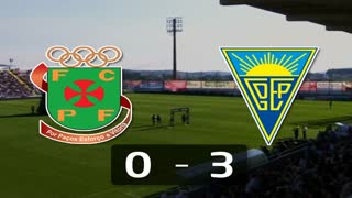 Liga (12ª J): Resumo P. Ferreira 0-3 Estoril