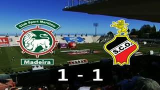 I Liga (3ªJ): Resumo Marítimo M. 1-1 SC Olhanense
