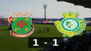 I Liga (5ªJ): Resumo FC P.Ferreira 1-1 Vitória FC