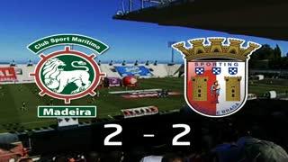I Liga (14ªJ): Resumo Marítimo M. 2-2 SC Braga