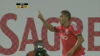 GOLO! SL Benfica, Lima aos 10', Estoril Praia 0-1 SL Benfica