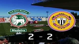 I Liga (12ªJ): Resumo Marítimo M. 2-2 CD Nacional