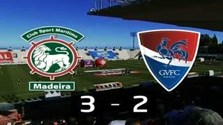Liga (10ª J): Resumo Marítimo 3-2 Gil Vicente