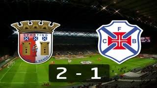 Liga (2ª J): Resumo Sp. Braga 2-1 Belenenses