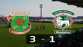 Liga (21ª J): Resumo P. Ferreira 3-1 Marítimo