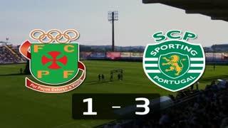 I Liga (26ªJ): Resumo FC P.Ferreira 1-3 Sporting CP