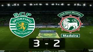 I Liga (9ªJ): Resumo Sporting CP 3-2 Marítimo M.