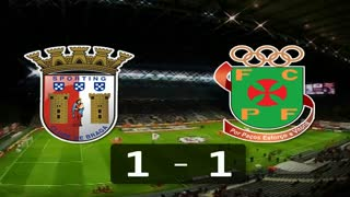 I Liga (16ªJ): Resumo SC Braga 1-1 FC P.Ferreira