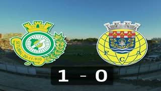 Liga (10ª J): Resumo V. Setúbal 1-0 Arouca