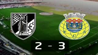 Liga (28.ª J): Resumo V. Guimarães 2-3 Arouca