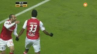 GOLO! SC Braga, Aderllan Santos aos 7', SC Braga 1-0 SC Olhanense