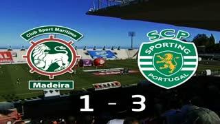 Liga (24.ª J): Resumo Marítimo 1-3 Sporting