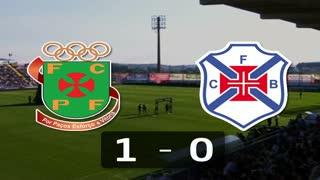 Liga (10ª J): Resumo P. Ferreira 1-0 Belenenses