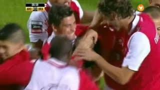 GOLO! SC Braga, Aderllan Santos aos 9', FC Arouca 0-1 SC Braga