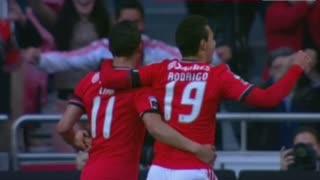 GOLO! SL Benfica, Lima aos 11', SL Benfica 1-0 A. Académica