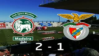 I Liga (1ªJ): Resumo Marítimo M. 2-1 SL Benfica