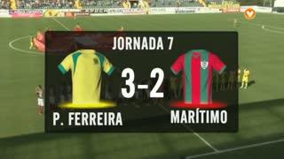 I Liga (7ªJ): Resumo FC P.Ferreira 3-2 Marítimo M.