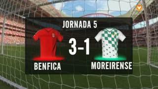 I Liga (5ªJ): Resumo SL Benfica 3-1 Moreirense FC