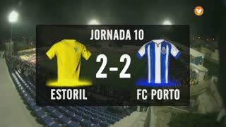 I Liga (10ªJ): Resumo Estoril Praia 2-2 FC Porto