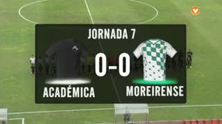 I Liga (7ªJ): Resumo A. Académica 0-0 Moreirense FC