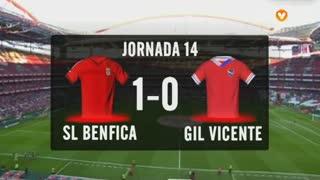 I Liga (14ªJ): Resumo SL Benfica 1-0 Gil Vicente FC
