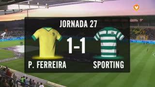 I Liga (27ªJ): Resumo FC P.Ferreira 1-1 Sporting CP