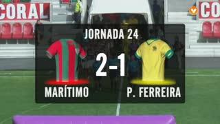I Liga (24ªJ): Resumo Marítimo M. 2-1 FC P.Ferreira