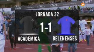 I Liga (32ªJ): Resumo A. Académica 1-1 Belenenses