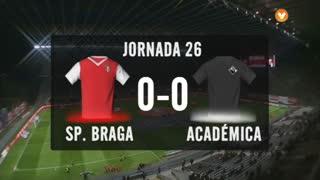 I Liga (26ªJ): Resumo SC Braga 0-0 A. Académica