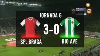 I Liga (6ªJ): Resumo SC Braga 3-0 Rio Ave FC