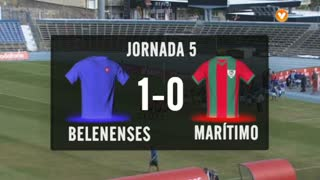 I Liga (5ªJ): Resumo Belenenses 1-0 Marítimo M.