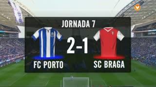 I Liga (7ªJ): Resumo FC Porto 2-1 SC Braga
